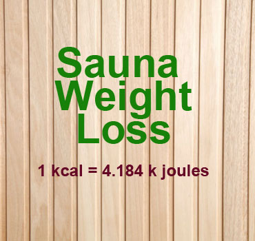 Sauna Weight Loss kcal to kj